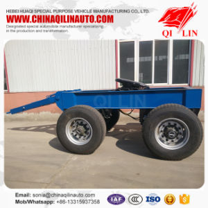 China Double Axles Full Drawbar Dolly Trailer for Sale pictures & photos