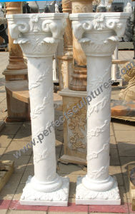 Corinthian Column with Stone Marble Granite Sandstone (QCM123) pictures & photos