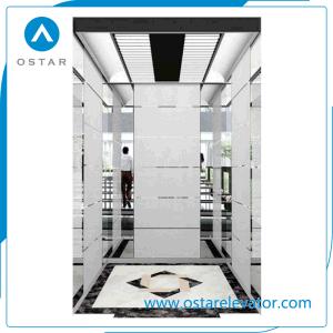 Golden Etching Passenger Elevator Cabin, Lift Cabin Design (OS41) pictures & photos