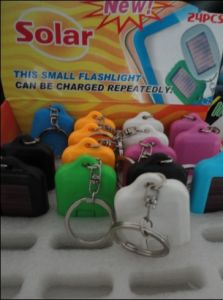 Resue Solar Power Keychain With LED (ZS-2038)