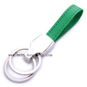 Custom Promotion Hot Sale Metal PU Leather Key Chain (BK20980D) pictures & photos