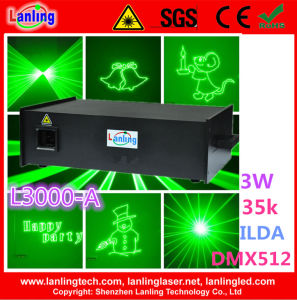3W 35k Green Powerful Text Stage Laser Lighting pictures & photos