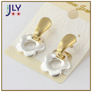 Wholesale Silver Gold Plating Flower Shape Alloy Brass Fashion Jewelry Earring pictures & photos