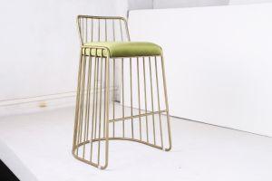 European Modern Stainless Steel Bar Chair with Fabric Cushion (BC-004)