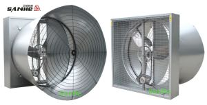 Sanhe Three-Blades Propeller Double-Door Cone Fan (Butterfly Cone Fan) pictures & photos