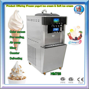 CE ETL Approved Commercial Soft Ice Cream Yogurt Frozen Machine HM728 pictures & photos