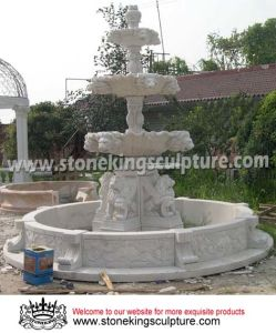 Hand Carved Natural Marble Fountain for Garden (SK-2189) pictures & photos