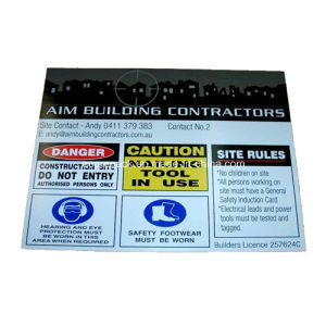 Corflute Sign, Construction Site Sign pictures & photos