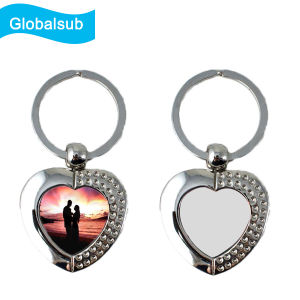 Custom Sublimation Printing Heart Shape Blank Key Ring pictures & photos