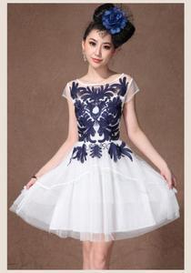 100% Polyester Embroidery Chiffon Fabric Tcf68