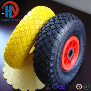 European Standard Solid Flat Free Colorful PU Foam Wheels pictures & photos