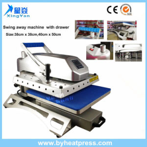 38X38cm Swing Away Tshirt Heat Press Machine with Drawer pictures & photos