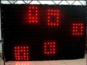Konelite 2*3m 176 PCS LED Vison Velvet Drapes Curtains