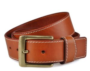 High Quality of Man′s Fashion Genuine Belt with Stitched