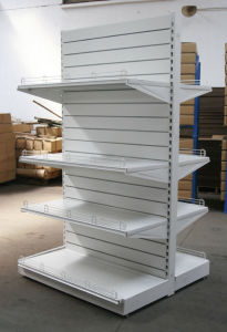 Double Sided Gondola Supermarket Shelf with Wire Fence pictures & photos