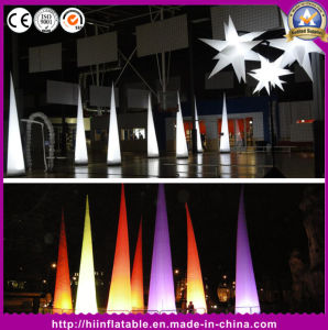 LED Light Inflatable Tusks Ivory for Event Party Decoration