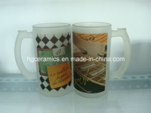 Inside Clear and Outside Frosted Sublimation Glass Mug pictures & photos