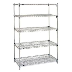 Chorm Plate Metal 5-Tries Wire Shelving Rack pictures & photos