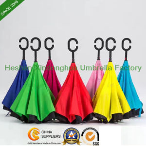 New Items Portable Handsfree Straight Reverse Inverted Umbrella (SU-0023FI) pictures & photos