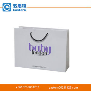Custom Chirstmas Recyclable White Paper Gift Bag with Logo Printing pictures & photos