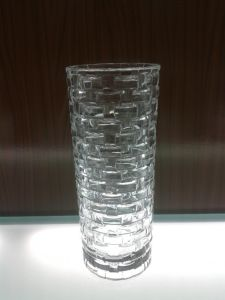 Crystal Machine-Made Clear /Colorful Glass Vase (V-HG12) pictures & photos