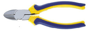 Finely Polished European Style Diagonal Cutting Pliers with 2 Color Handle (AZ-213046)