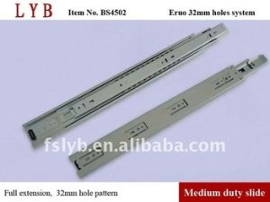 45mm Height Full Extension Balll Bearing Slides (with 32mm holes system, Euro holes) pictures & photos