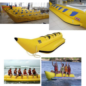 OEM Inflatable PVC Water Toy Banana Boat with CE pictures & photos