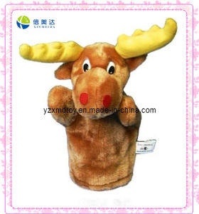 Funny Plush Deer Puppet for Kids pictures & photos