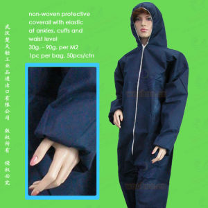 PP+PE/SMS/CPE/PE/PP Disposable Protective Coverall pictures & photos