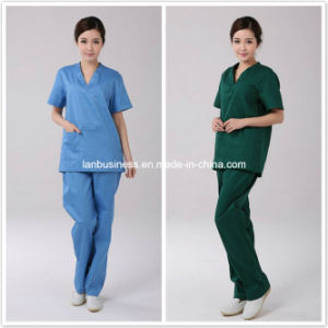 Ly New Design Cotton Nurse Scurb Uniforms (LY-MU003) pictures & photos