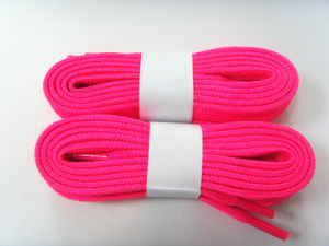 Factory High Quality Flat Cotton Braided Shoelace pictures & photos
