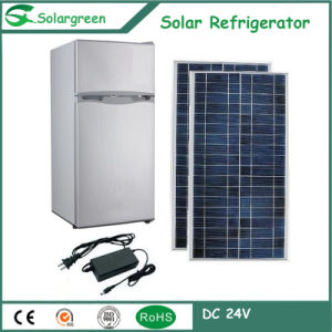 Quality Assurance Larger Power Double Doors Solar Upright Refrigerator pictures & photos