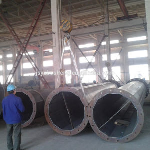 Big Electricity Galvanized Steel Pole pictures & photos