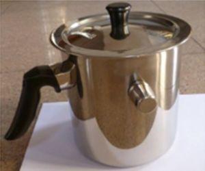 Stainless Steel Double Walls Whistle Milk Pot (KS-S0055)