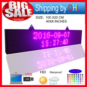 P10 RGB Outdoor Full Color LED Display Programmablefor LED Signs Size 39X8 Inch LED Scrolling Sign Message Board pictures & photos