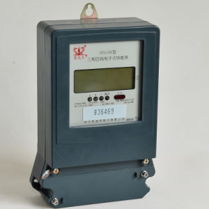 Three-Phase Four-Wire Electronic Active Energy Meter with Anti-Flaming Casing pictures & photos