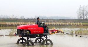 Aidi Brand 4WD Hst Diesel Engine Self-Propelled Boom Sprayer for Rice Paddies and Farm