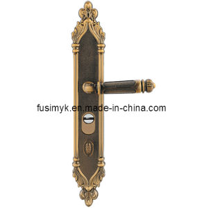 High Quality Antique Brass Plating Door Handle pictures & photos