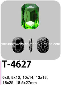 Crystal Elements Glass Fancy Loose Pointback Octagon Shaped Jewelry Garment Accessory Parts Stone Bead (T-4627)