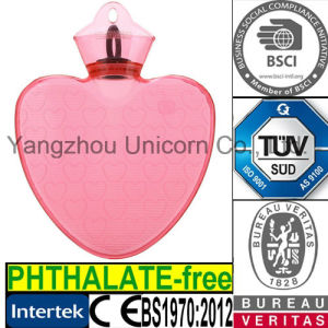 BS Heart PVC Hot Water Bottle