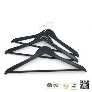Black Non Slip Bar Wooden Clothes Hanger Hangers for Jeans pictures & photos