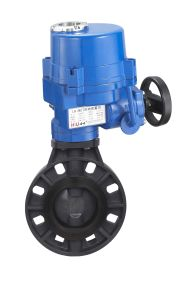 Electric PVC Butterfly Valve (LQ) pictures & photos