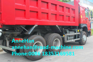 2017 New Red Sinotruk Right Hand Driving 336 HP Front Lifting Heavy Duty Tipper Trucks Lower Fuel Consumption 16m3 Q235 Material