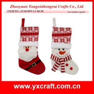 Christmas Decoration (ZY16Y079-1-2 36CM) Christmas Sock Home Decor pictures & photos