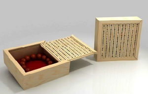 Honourable Carved Wooden Box for Buddhist Prayer Beads pictures & photos