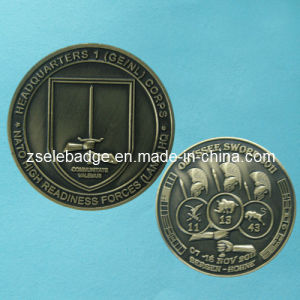 Custom 3D Antique Brass Plated Souvenir Coin (Ele-C079) pictures & photos