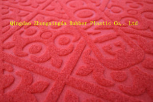 3G Velour Embossed Floor Door Mats with PVC Backing pictures & photos