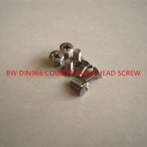 DIN966 Cross Recessed Raised Countersunk Head Screw pictures & photos