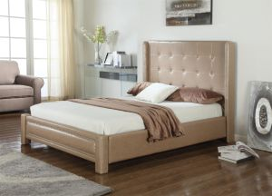 Modern Home Furniture PVC Hotel Bedroom Flat Bed pictures & photos